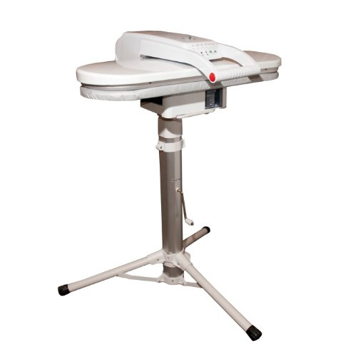 Steam Press White with Telescopic Height-Adjustable Press Stand