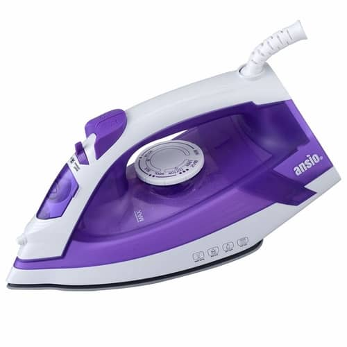 ANSIO Steam Iron Light Weight Ceramic Soleplate